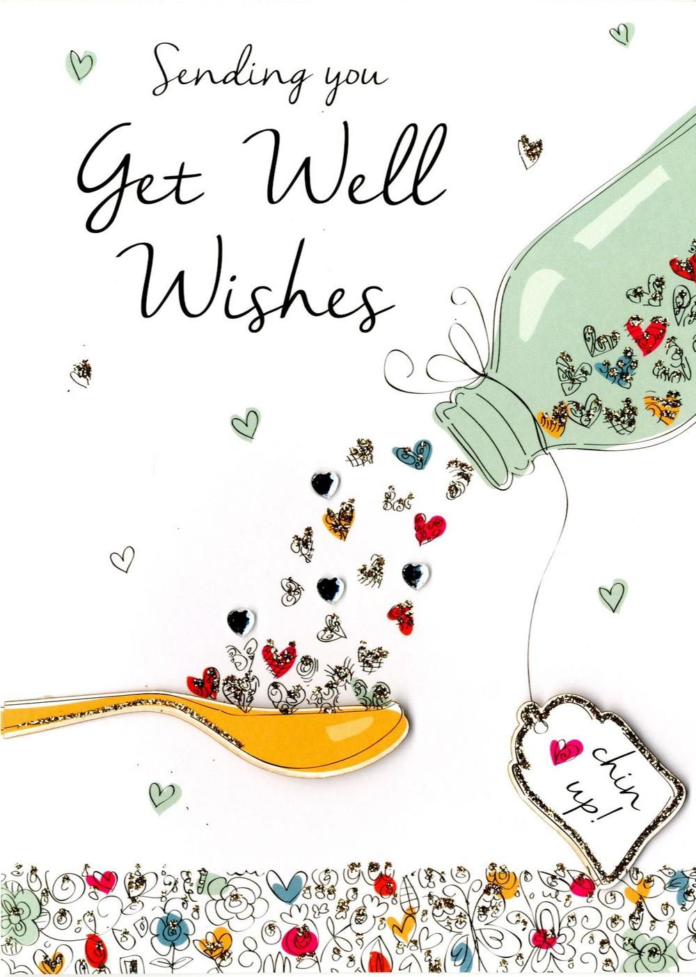 Get Well Wishes Greeting Card Get well wishes, Get well