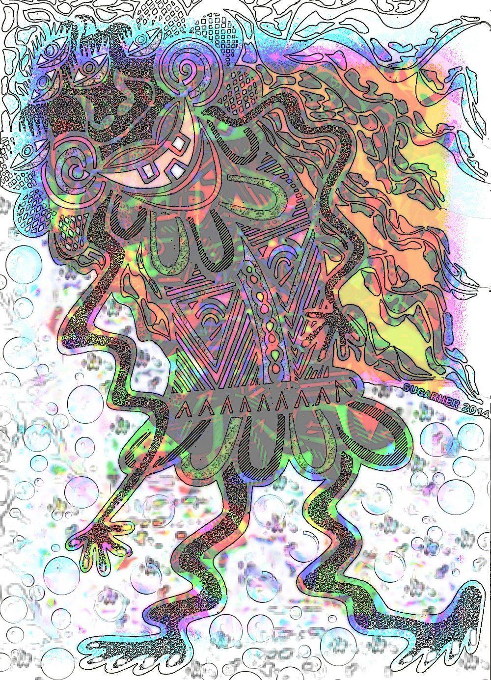 """""""La hechicera alienígena II"""" Ver más en: www.sirenasinmar.blogspot.com www.facebook.com/SugarherArts www.librecreacion.net"""