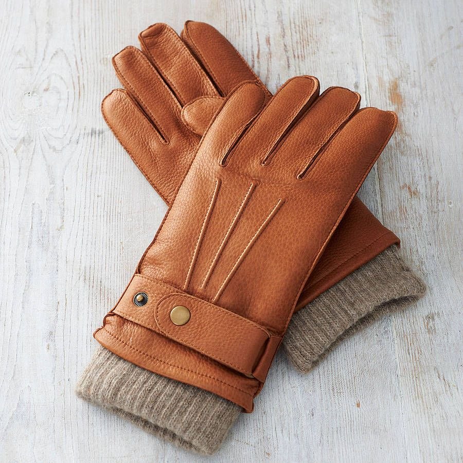 Mens deerskin gloves - Men S Cashmere Lined Deerskin Gloves