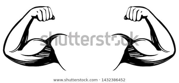 Power Hand Muscular Arm Bicep Gym Wrestling Powerlifting Bodybuilding Champion Sport Symbol Vector Biceps Vector Illustration Vector Art Illustration