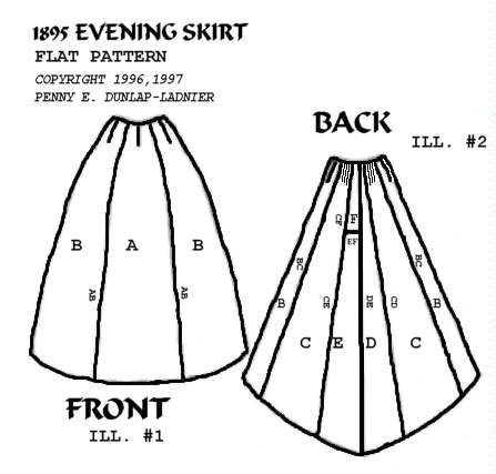 gown skirt construction pattern | directions for construction tips ...