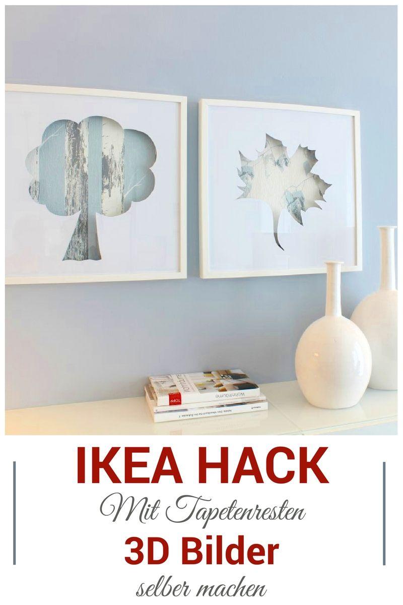 Ikea Hack 3d Bilder Mit Tapetenresten Im Ribba Bilderrahmen