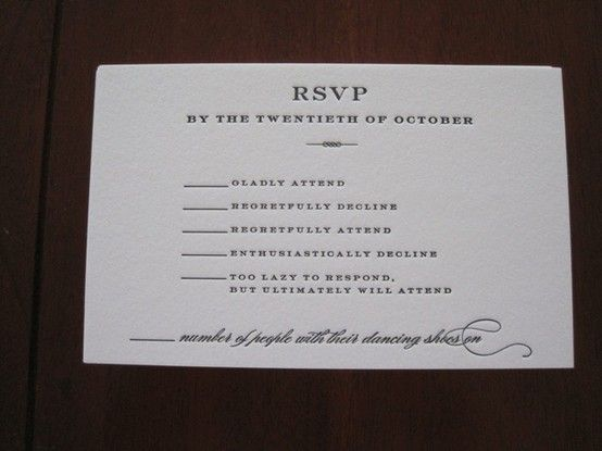 Funny Wedding Invitation Wording: Do You Hear Wedding Bells? I Do!