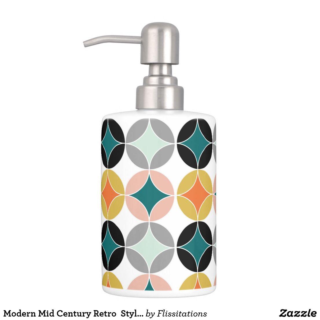 Modern Mid Century Retro Style Repeat Patterned Bathroom Set | Retro ...