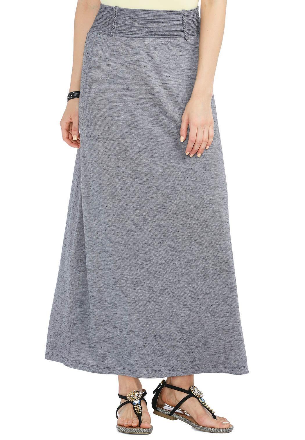 139752368f4 Textured Slub Knit Maxi Skirt-Plus Skirts Cato Fashions
