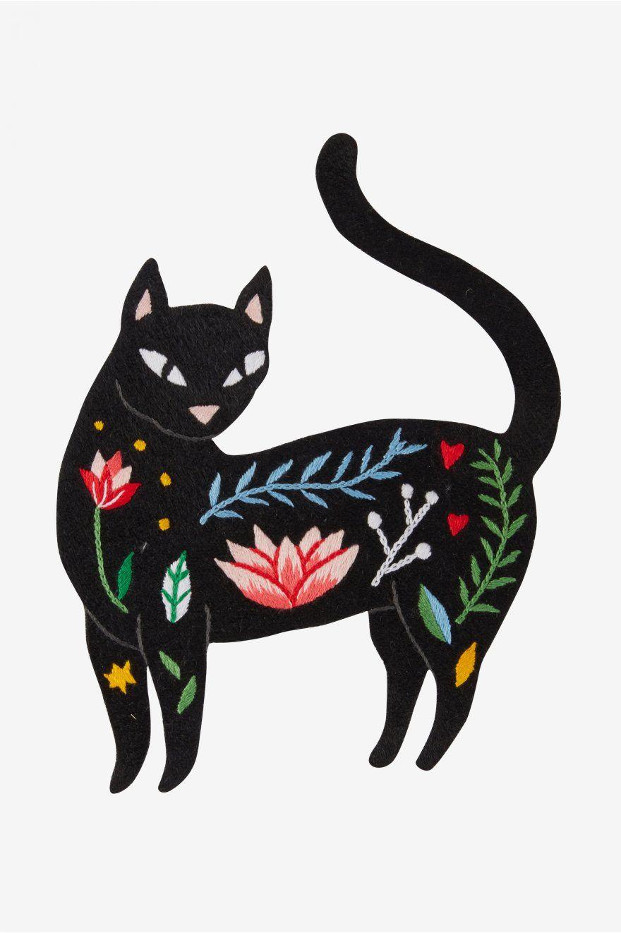 Gato - Diagramas de patrones   Bordado   Pinterest