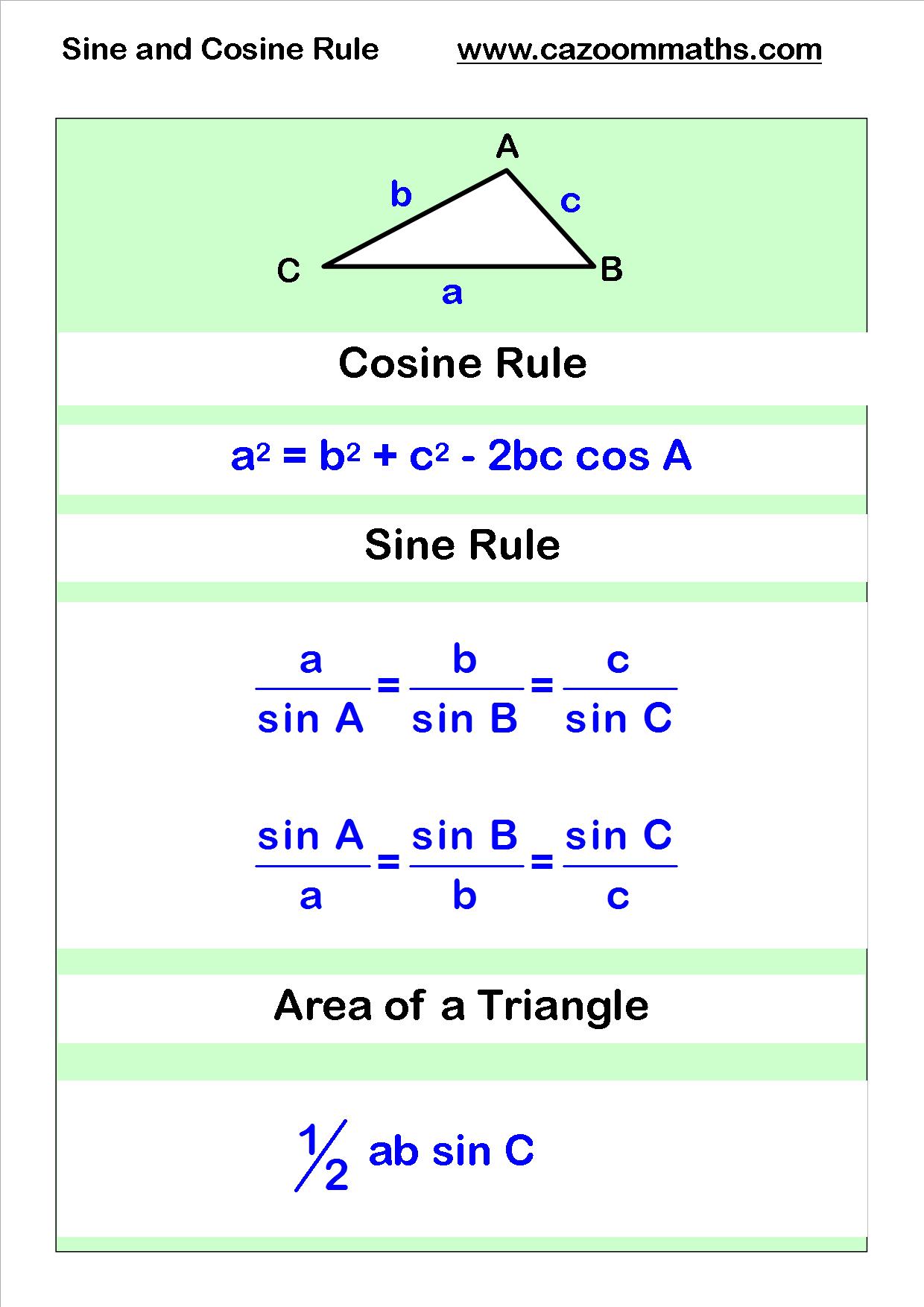 worksheet Sat Worksheets cosine and sine rule sat math pinterest geometry worksheets worksheetsmath worksheetssat