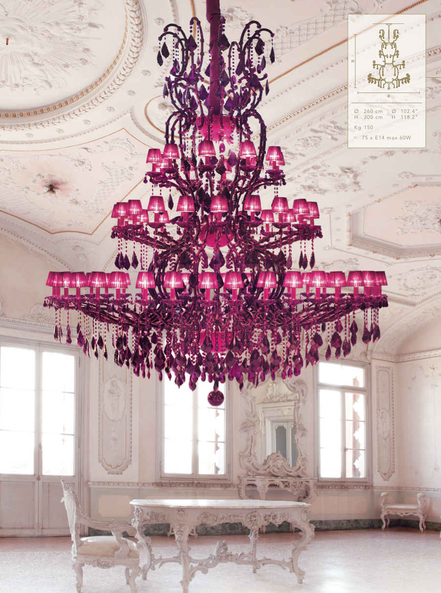 dark pink chandelier chandelier pinterest kronleuchter leuchten und sch ner wohnen. Black Bedroom Furniture Sets. Home Design Ideas