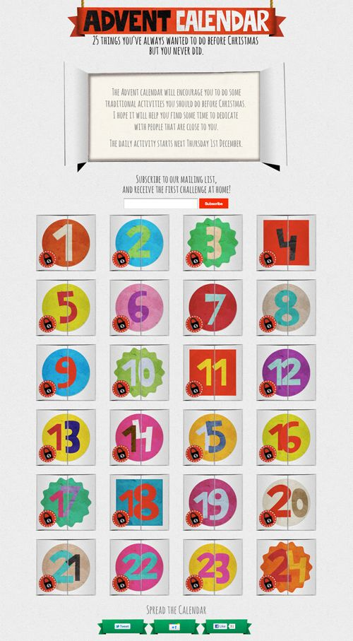 Advent calendar. 25 things you've always wanted to do b by Marc Martinez, via Behance (With ...