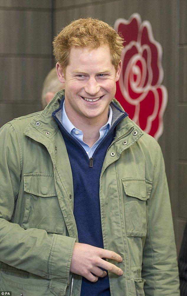 Prince Harry met London marathon runners at Twickenham Rugby Stadium today