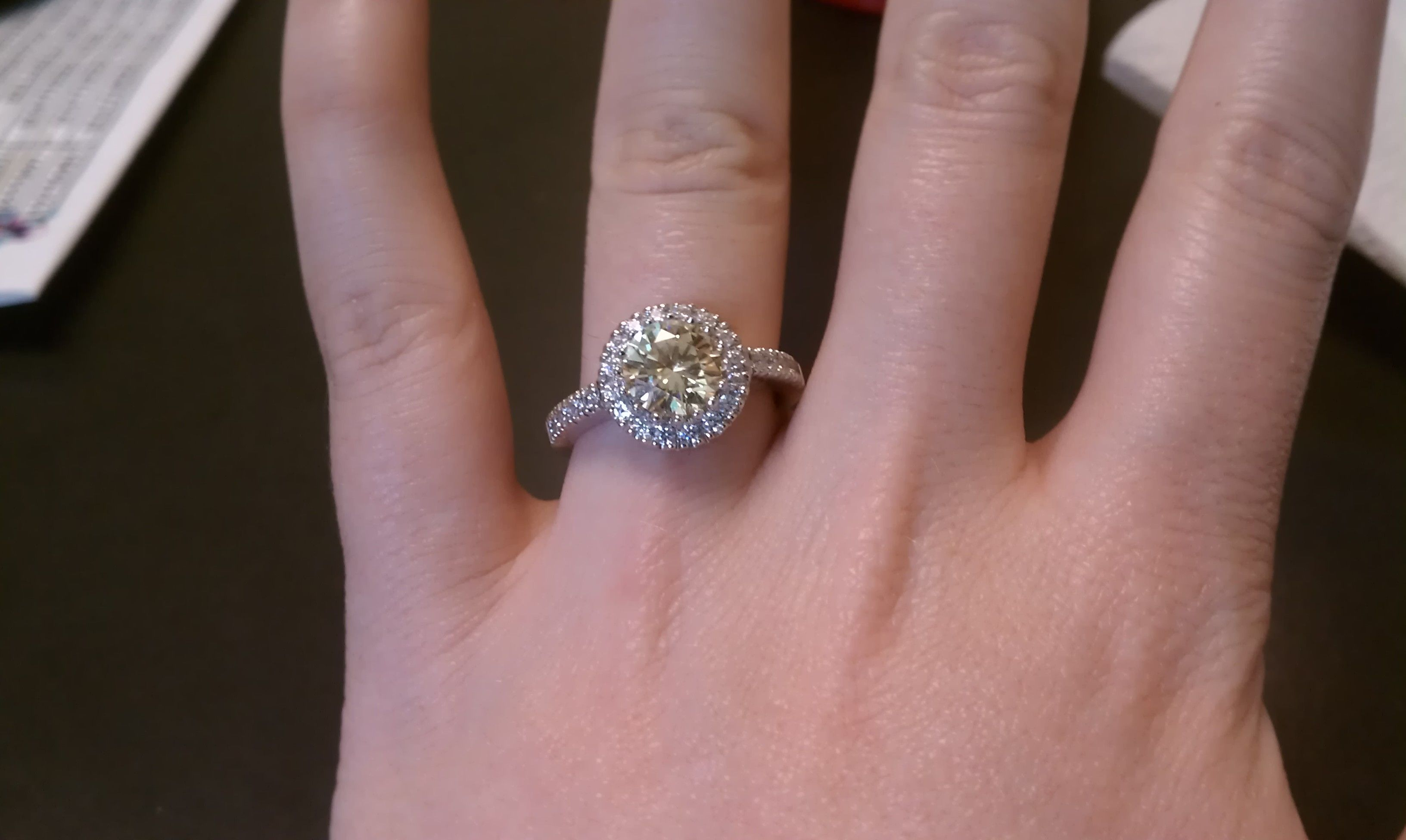 My beautiful canary engagement ring! | I officially get a wedding ...