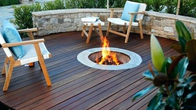 Platform Deck With Fire Pit Google Search Deck Fire Pit Fire