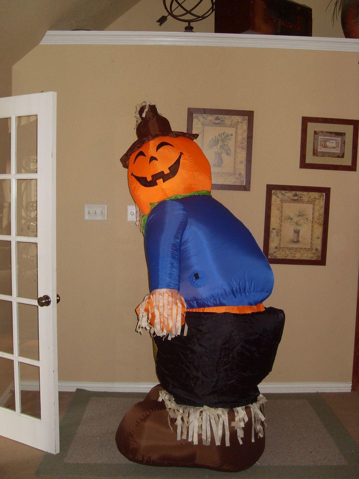 Prototype Gemmy Halloween Mooning Scarecrow Pumpkin
