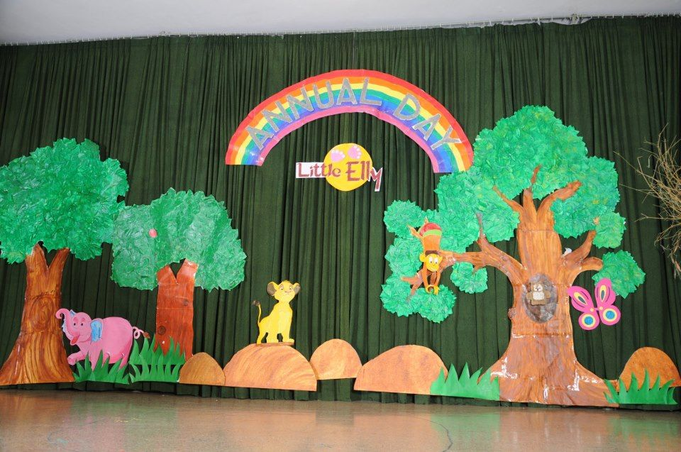 Annual Day Stage Decoration Decoration On A Pre School Event