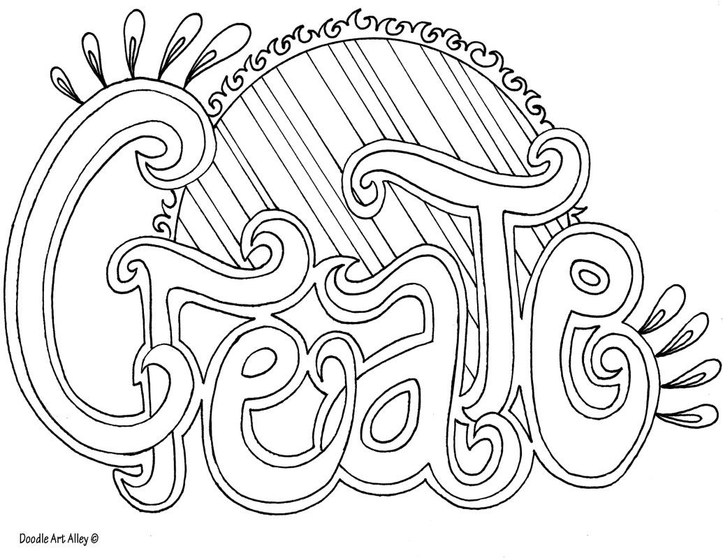 Create Doodle Art Alley Coloring Pages Quote Coloring Pages Word Doodles