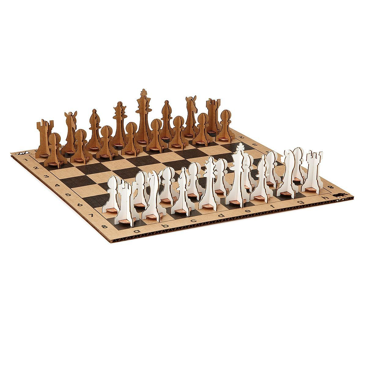 Penny Chess Set recycled cardboard, sustainable, chess