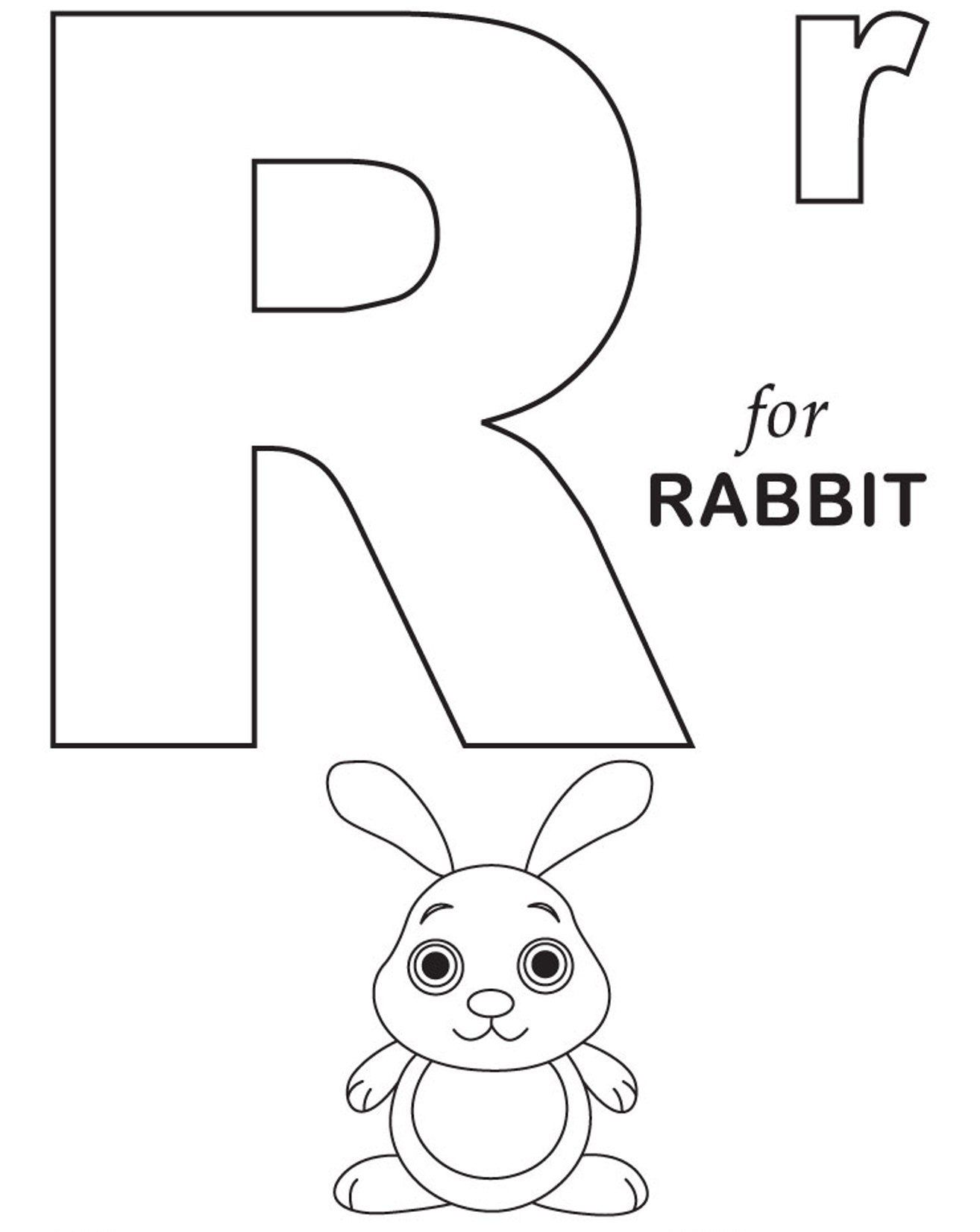 R For Rabbit Free Alphabet Coloring Pages Alphabet Coloring