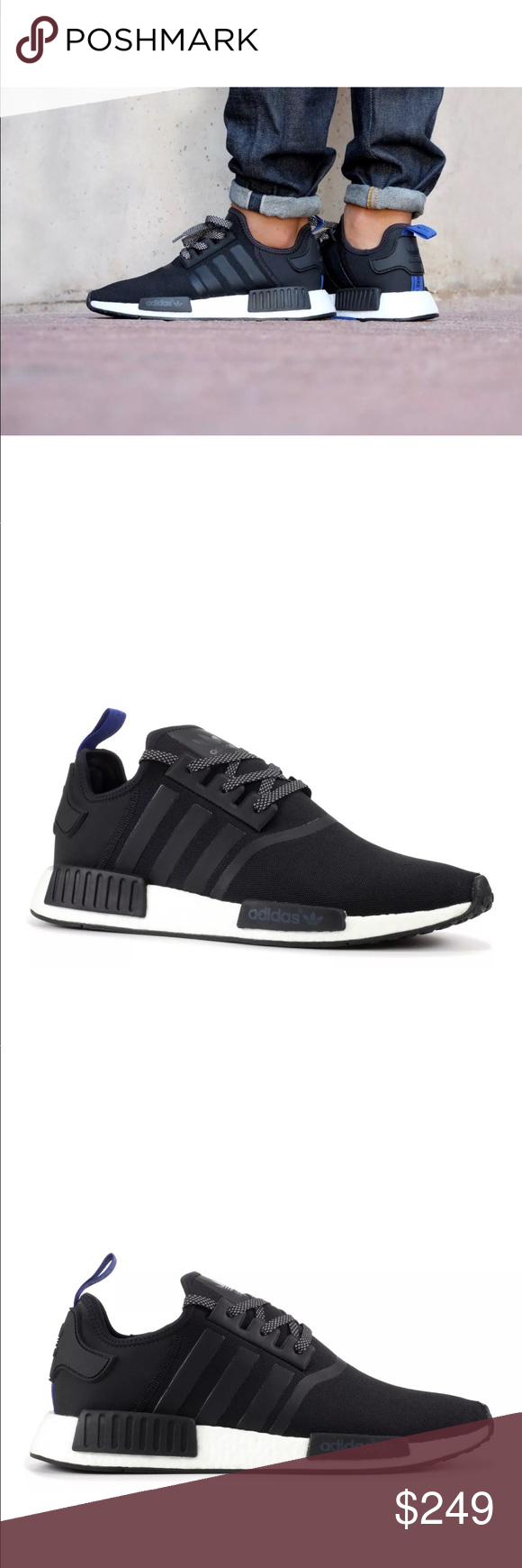 big sale 5ae33 9f664 Adidas Mens NMD R1 Blue Tab Black S31515 Sz 18 20 Adidas ...