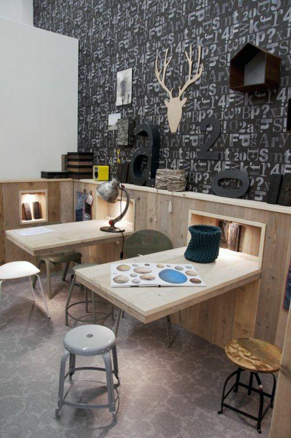 wandklapptische klappbare holztische f r kleine r ume thesis pinterest klapptisch. Black Bedroom Furniture Sets. Home Design Ideas