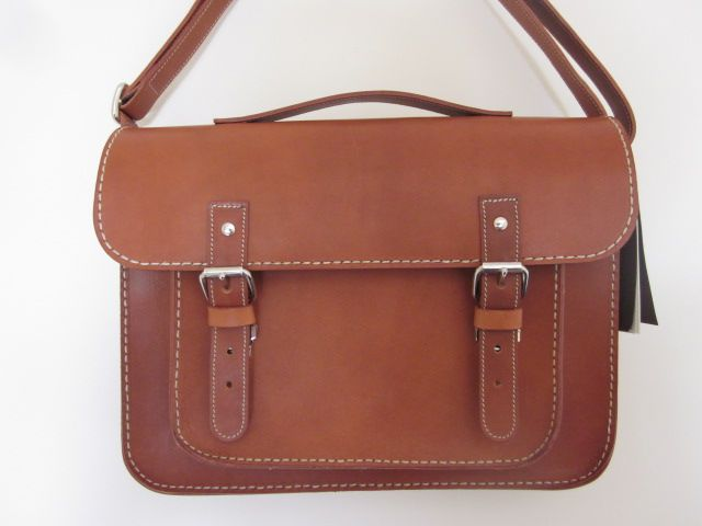 Celebrate Handbags Roots Canadian Vegetable Tanned Leather Satchel