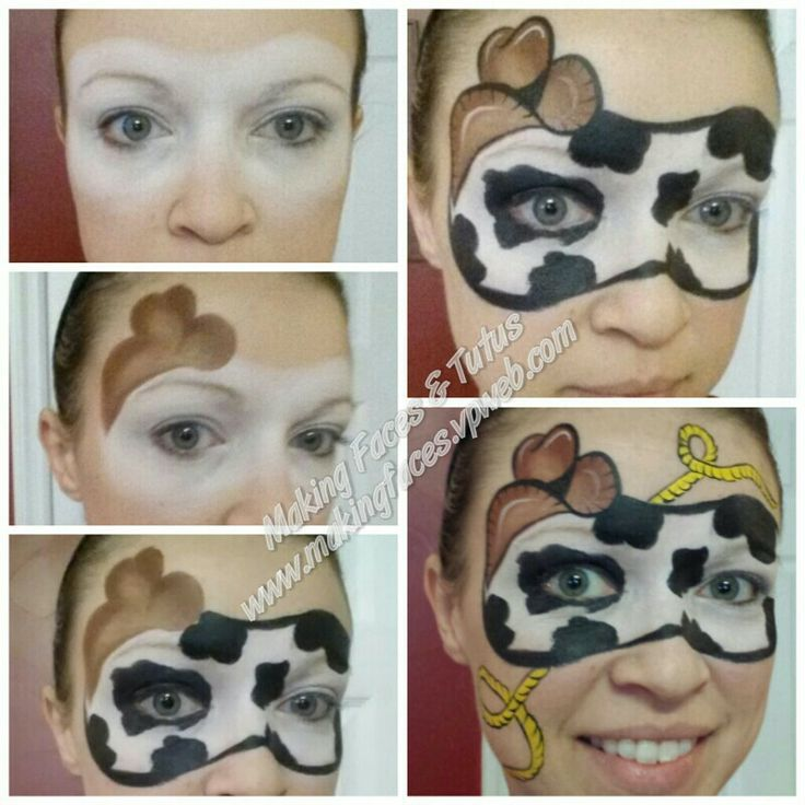 cow face paint - Google Search | Face painting Inspiration