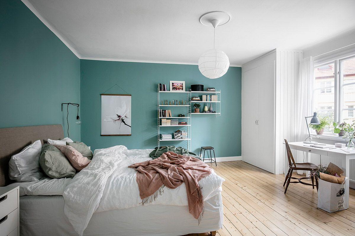 Slaapkamer verven ga voor de hippe kleur aqua blauw interior