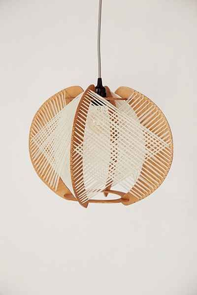 Assembly Home Airy Wood Pendant Light   Urban Outfitters