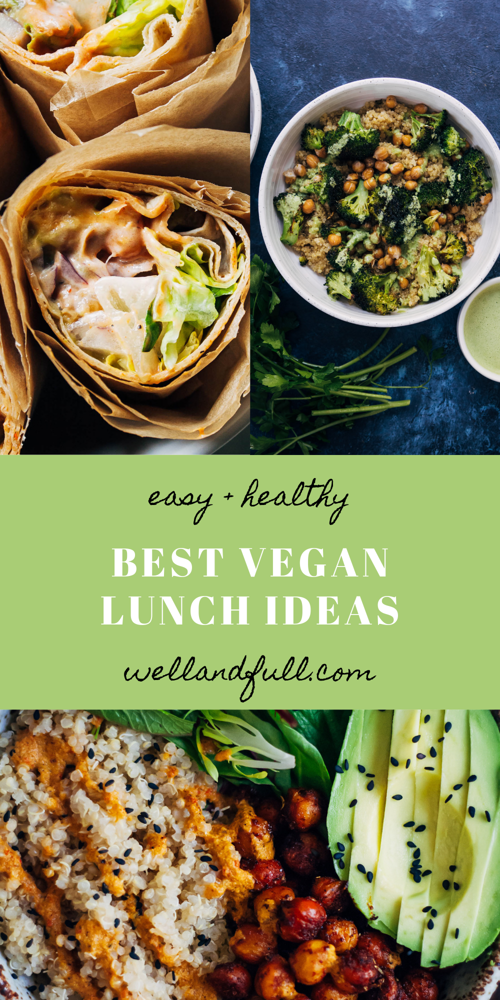 Easy Vegan Lunch Ideas Healthy Vegetarian Recipes Easy