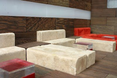A Lounge...made off cado-luxury playbricks for kids and adults