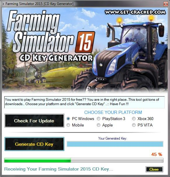 faqrming simulator 2015 serial number giveaway, play on steam for