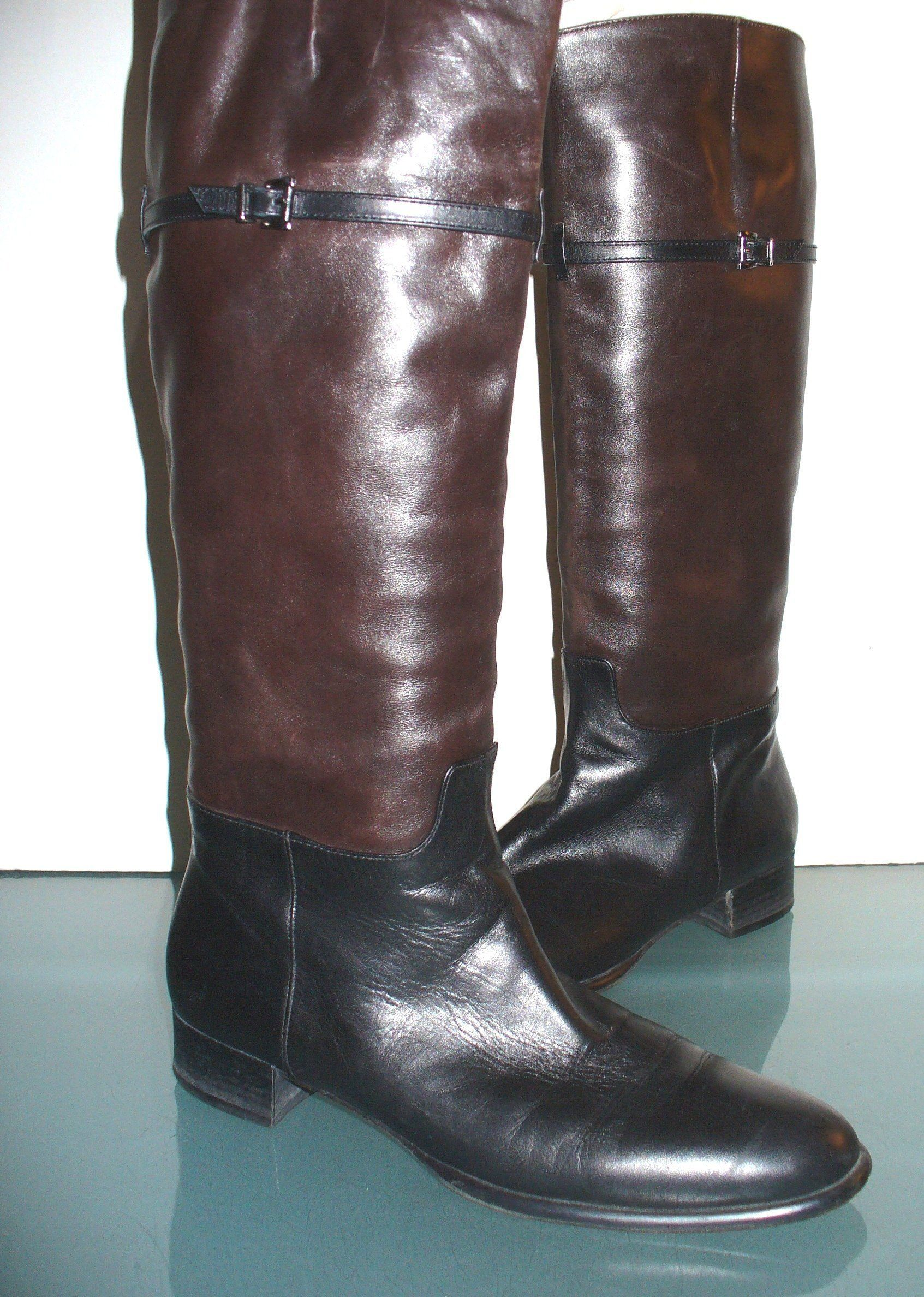 3df244d973 Via Spiga Made in Italy Equestrian Style Boots Size 8.5 N by EurotrashItaly  on Etsy
