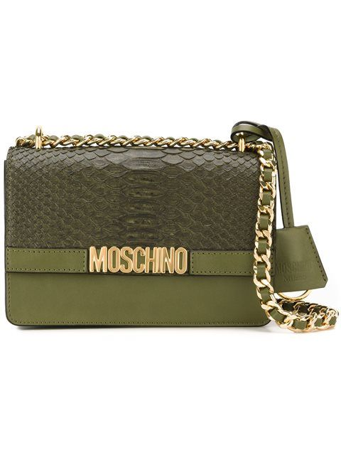 MOSCHINO Flapover Crossbody Bag.  moschino  bags  shoulder bags  leather   crossbody   9c2710df51
