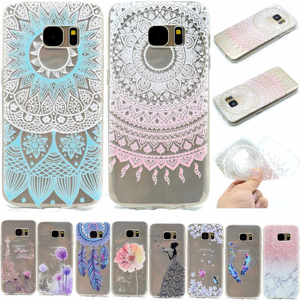 7ca125aea Cute Cartoon Painted Cell Phone Case For Samsung Galaxy S7 S 7 Soft  Silicone TPU Protective Case For Coque Samsung S7 Edge Capa
