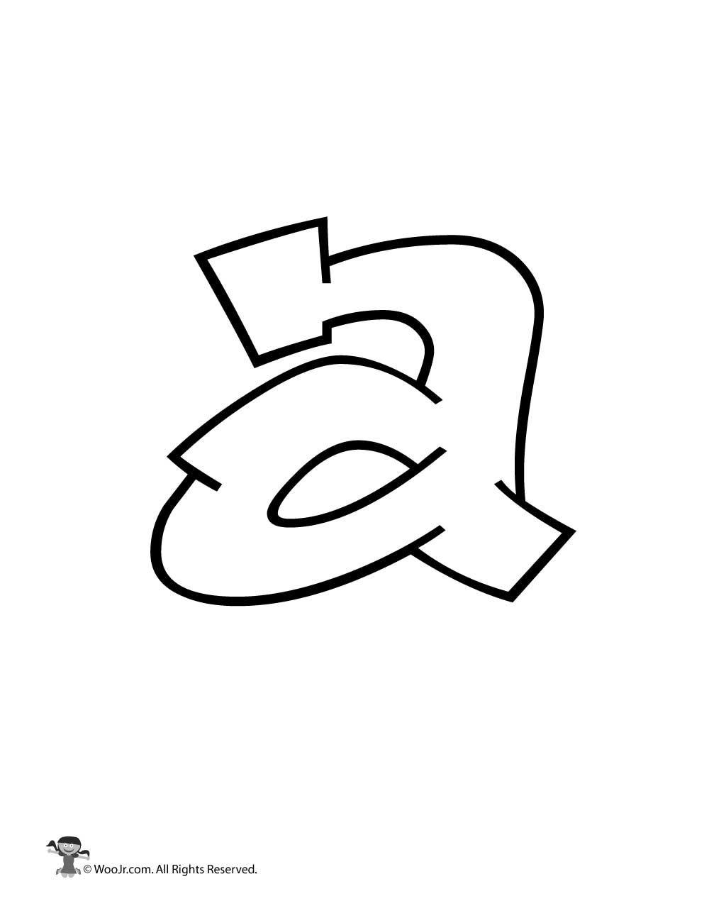 Graffiti Lowercase Letter A In 2020 Graffiti Lettering Graffiti