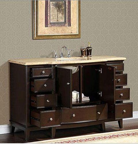 60 Inch Vanity Single Sink 1