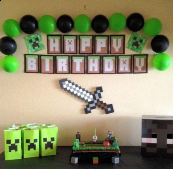 Como Organizar Una Fiesta Temática Minecraft Cumpleaños Con Tema De Minecraft Fiesta Minecraft Minecraft Fiesta