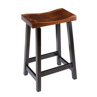 Saddle Bar Stool In Maple Wood Michael S Cherry And Onyx Stain