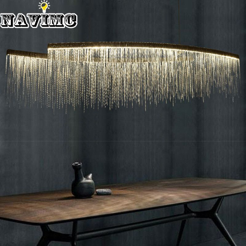 Modern aluminum chain meteor shower led pendant light for hotel hall modern aluminum chain meteor shower led pendant light for hotel hall restaurant dining room silver creative mozeypictures Choice Image