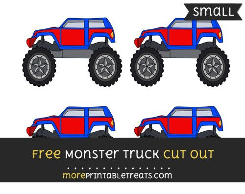 Free Monster Truck Cut Out - Small Size Printable Monster Truck