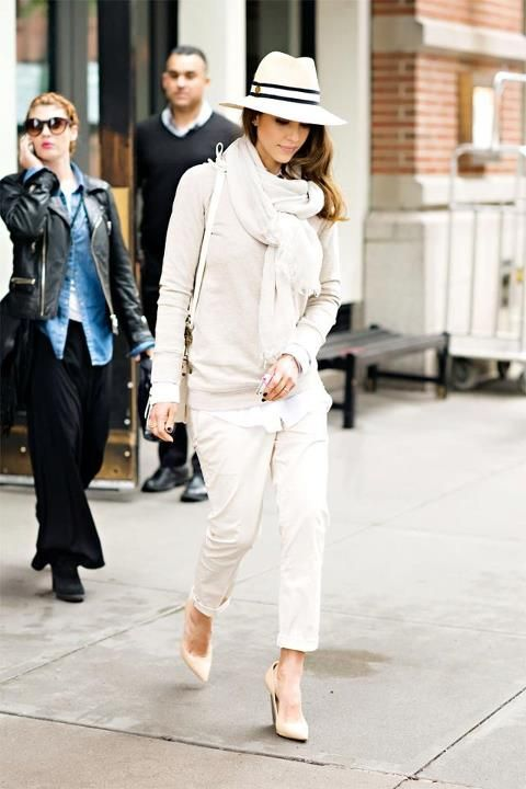 Wears (Total) White...right!