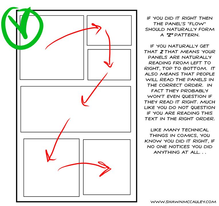 Page Layout For Typical Comic Reading Order