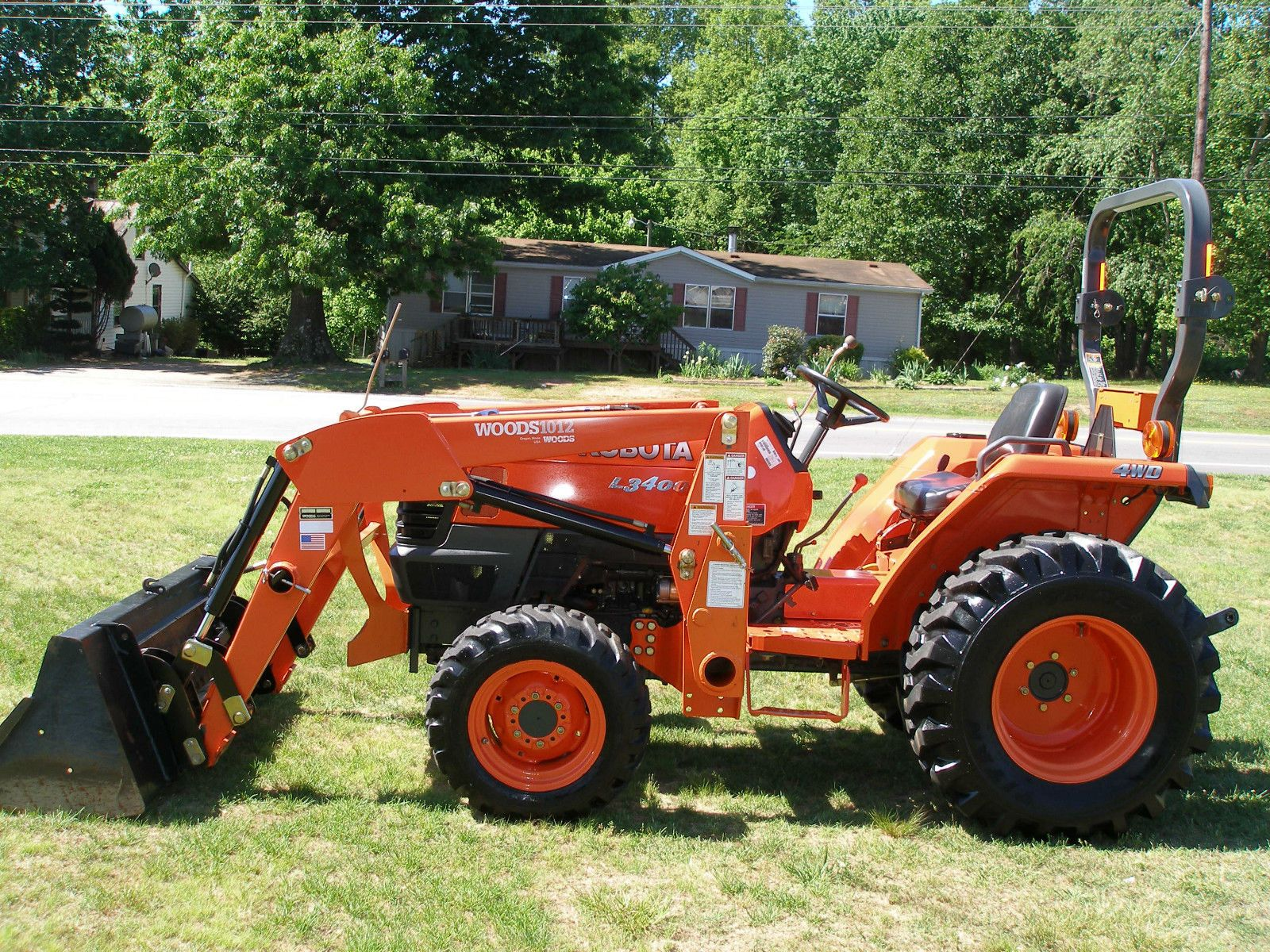 VERY NICE KUBOTA L3400 4X4 LOADER TRACTOR WITH ONLY 225 HOURS Kubota  Tractors, 4x4,