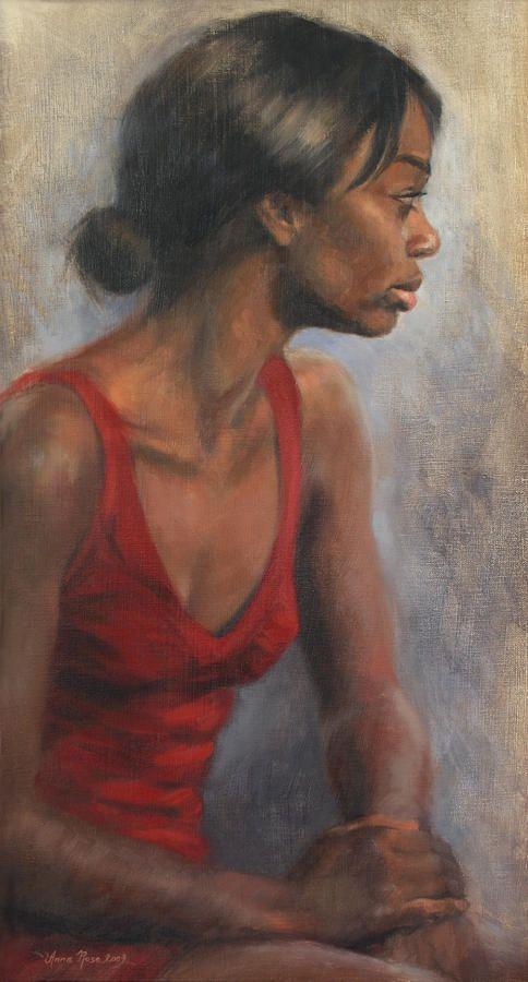 """Red Dress"" by Anna Bain #Art"