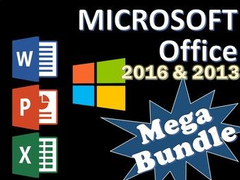 megabundle for microsoft office 2016 2013 lessons word powerpoint