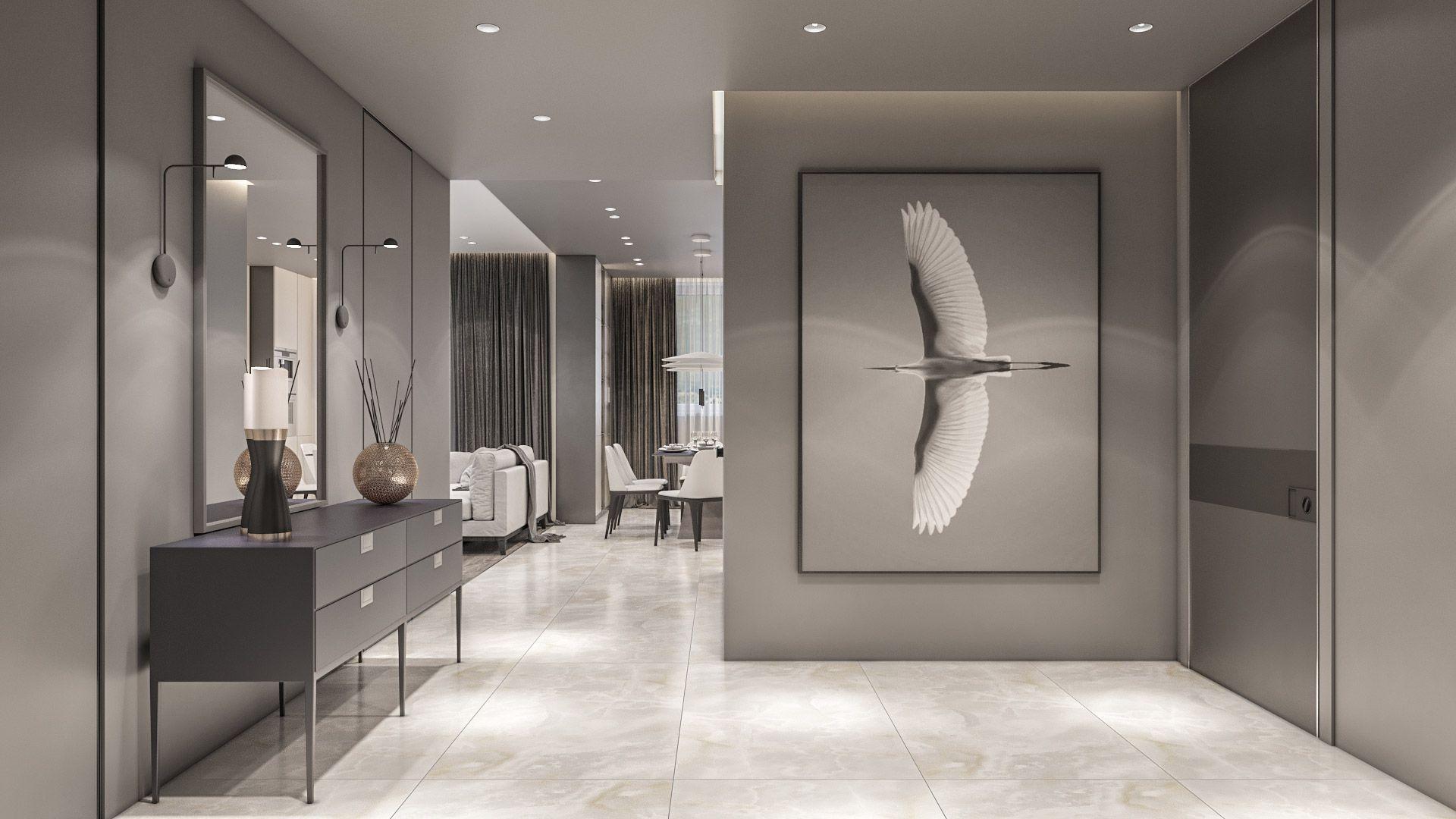 Monochrome Apartment Iqosa International Interior Design Interior Design Monochrome Apartment