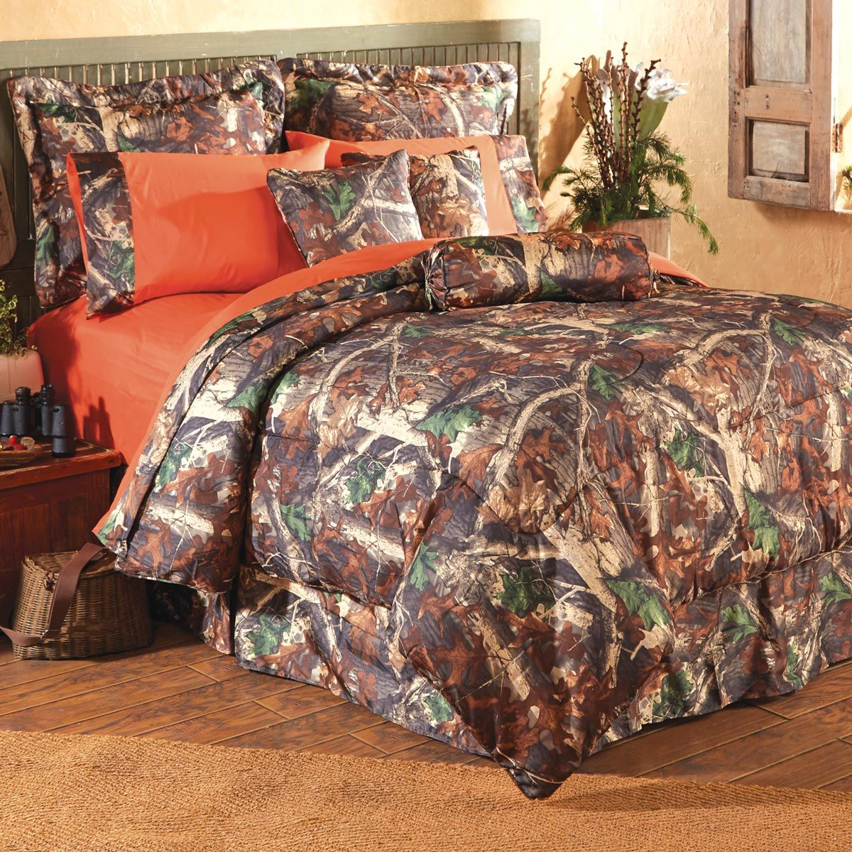 Camouflage Bedroom Sets: Oak Camo Bed Set - Twin