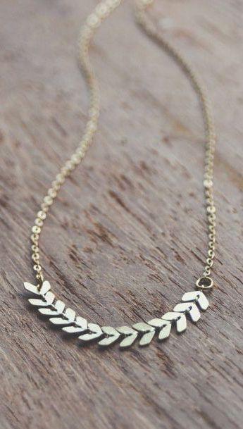 boho dainty chevron necklace