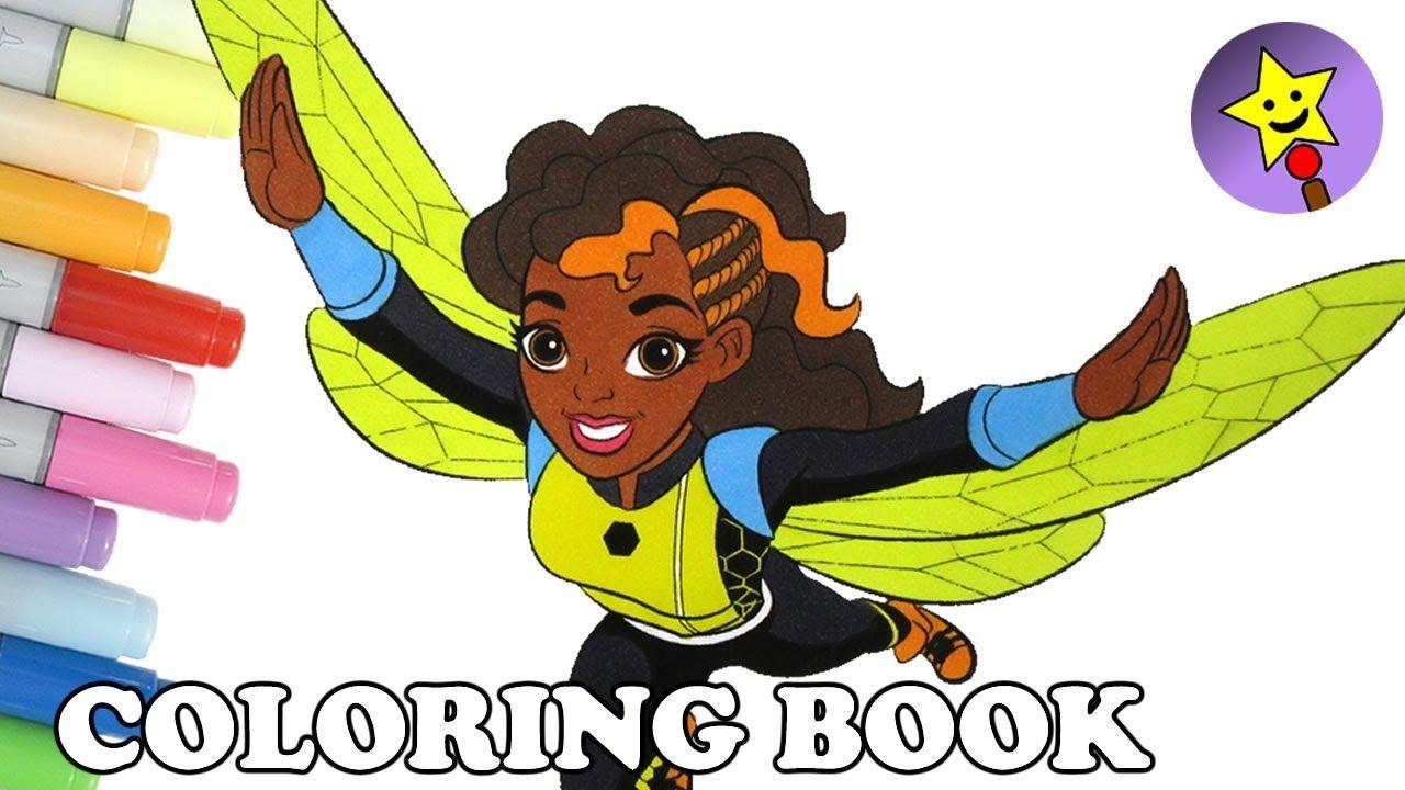 Dc Super Hero Girls Coloring Of Bumblebee Dcsuperherogirls