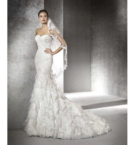 eresma vestido de novia san patrick corte sirena con pedrería