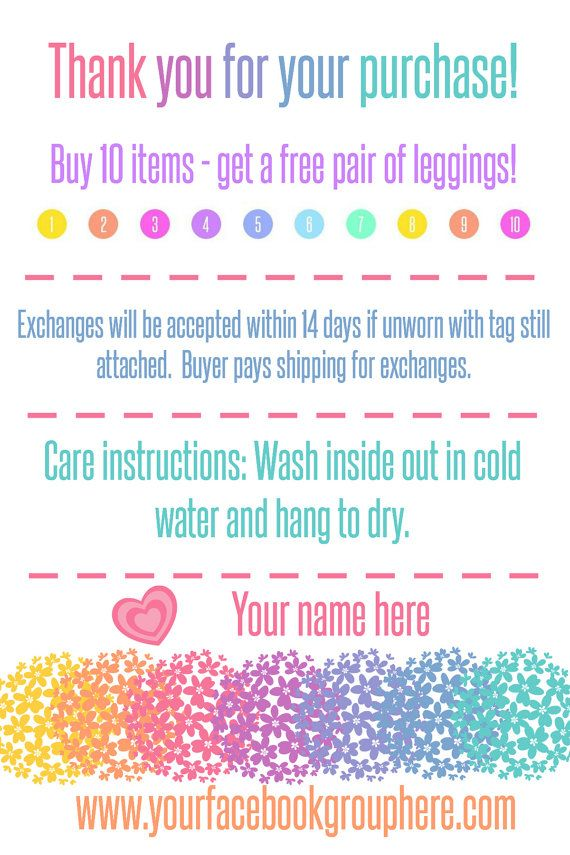 LuLaRoe Thank You Care Card with Rewards by LittleManPrintables